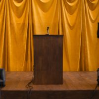 Tania Bruguera, Tatlin's Whisper #6 (Havana Version), 2009. Installation view, Tania Bruguera: Talking to Power / Hablándole al Poder, Yerba Buena Center for the Arts, San Francisco, 2017. Courtesy Yerba Buena Center for the Arts. Photographs by Charlie Villyard.