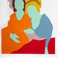 Clarissa and Romina, 2017. Oil on canvas. 120 x 90 cm.