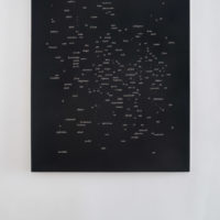 Jorge Méndez Blake, Dismantling Gorostiza (Notes on Poetry. Prologue) / Desmantelando a Gorostiza (Notas sobre poesía. Prólogo), 2017, Acrylic on linen, 60 x 47.9 inches