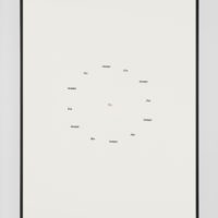 Jorge Méndez Blake, Muerte sin fin (José Gorostiza) IX, 2017, Ink on paper, 14.9 x 10.9 inches (framed), Edition of 3, 1 AP