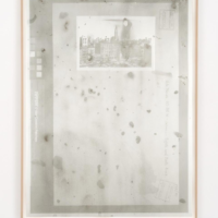 Matthew Brandt, 711376Fu3, ʻManhattan: 16th Street (west) - 8th Avenue.' 1931, 2014, Gum bichromate print with dust swept from Beth Israel truck dock 61 x 46 inches ( 156 x 116.8 cm). Photo courtesy of the artists and Steve Turner Contemporary.