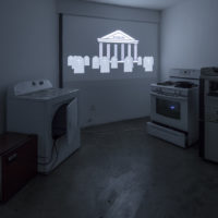 Carlos Bonil, Choral Machine: Routine #, 2017, Video animation, obsolete appliances, transformed computer speakers. Dimensions: variable. Courtesy: the artist and The Box, LA. Fredrik Nilsen Studio.