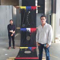 José Luis Landet (artista) y Gustavo Arróniz (galerista, Ciudad de México)