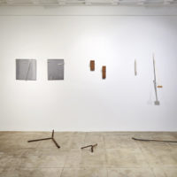 Installation view at Building Material Process and Form in Brazilian Art. Photo Courtesy of Hauser & Wirth Los Angeles, South Gallery