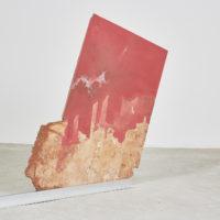 Gwladys Alonzo, Caillou Ciré II, 2017, Cera, mármol, 62 × 1135× 3 cm Cortes, Photo: Sergio López, Courtesy: El cuarto de máquinas.