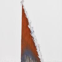 Gwladys Alonzo, Concret III, 2017, Plomo, aerosol, 77 × 9 × 30 cm, Photo: Sergio López, Courtesy: El cuarto de máquinas.