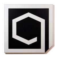 Geraldo de Barros, Untitled, 1990, Plastic laminate on wood, 122.5 x 122.5 cm / 48 1/3 in x 48 1/3 in. © Fabiana de Barros and Lenora de Barros. Courtesy Luciana Brito Galeria