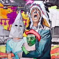 Claudio Dicochea, de la Gobernatura Suprema y Jefe Saddle Blazing, se convierte en Marciano (of Supreme Governance and Chief Saddle Blazing, it turned into a Martian), 2010. Image courtesy of the artist and UCR ARTSblock.