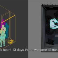 Saydnaya, dentro de una cárcel siria de tortura / Saydnaya, inside a Syrian torture prison. 2016. Forensic Architecture y Amnistía Internacional, 2016. Imagen cortesía del Museo Universitario de Arte Contemporáneo (MUAC).