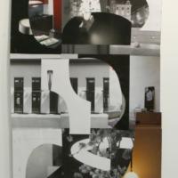 Sin título. De la Serie Liso y Corrugado, Luis Salazar, 2014, Papel glasé, tirro y grapas. 87,5 x 60,5 cm aprox., Cortesía: Carmen Araujo Arte, Crédito de la foto: Carmen Araujo Arte.