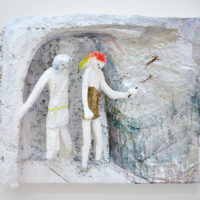 Lin May Saeed, Freundschaft/Friendship relief, 2010. Styrofoam, acrylic paint, foil, 45 x 57 x 15,5 cm. Image courtesy of Lulu.