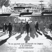 Comunicado Gráfico (Módulo Práxedis Guerrero), 1977-1978. Copia de exposición (original en heliografía). Museo Universitario Arte Contemporáneo/Universidad Autónoma de México (MUAC/UNAM). Imagen cortesía de Museo Amparo.