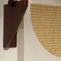 Genealogía. Nebot (detalle), 2017. Serigrafía sobre tela de Chifón y soporte de madera, 40 x 83 x 30 cm. Cortesía de Espacio KB