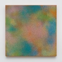 Rainbow Sparkle, 2017. Urethane and chromaluscent paint on aluminum, 24 x 24 x 1 1/2. Courtesy Royale Projects, Los Angeles