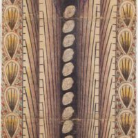 Untitled (Vertical Tunnel with Cars), n.d. Wax crayon, graphite, and water-based paint on pieced paper 58 × 23 ¾ in. (147.3 × 60.3 cm); 62 × 33 ¼ in. (157.5 × 84.5 cm), framed Philadelphia Museum of Art; promised gift of Jill and Sheldon Bonovitz ©️ Estate of Martín Ramírez; courtesy of Ricco/Maresca Gallery, New York.