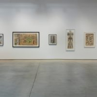 Installation view of Martín Ramírez: His Life in Pictures, Another Interpretation. Institute of Contemporary Art, Los Angeles (ICA LA), September 9–December 31, 2017. Photo: Brian Forrest.