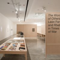 Installation view. The Words of Others: León Ferrari and Rhetoric in Times of War, at REDCAT. Image courtesy of REDCAT.
