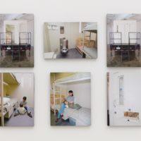 Regina José Galindo, Centro de detención para familias en los Estados Unidos/America's Family Prison, 2008. Nine drawing, key, photos and video. 8.5 x 11 in. and dimensions variable. Courtesy of the artist and Baik Art. Photo: Michael Underwood