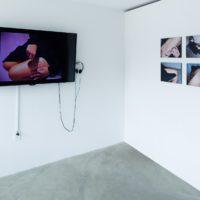 Regina José Galindo, Installation view, 2003-2017. Photos, videos, mixed media. Dimensions variable. Courtesy of Baik Art. Photo: Michael Underwood