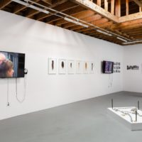 Regina José Galindo, Installation view, 2003-2017. Photos, videos, mixed media. Dimensions variable. Courtesy of Baik Art. Photo: Michael Underwood