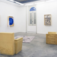 Installation view. Arthur, Janina, Marco e Pedro, 2017. Courtesy of Jacaranda, Rio de Janeiro. Photo credit: Pedro França