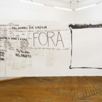 Quilômetros, 2017. Viste de exhibición en galería Sé, São Paulo. Imagen cortesía de galería Sé.