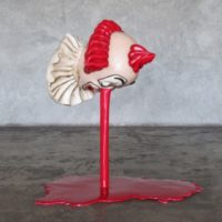 Cynthia Gutiérrez, Deepwater Pagliacci, 2011, Fiberglass, paint, iron, 83 x 70 x 55 cm / 32.7 x 27.5 x 21.6 inches. Courtesy of CULT