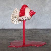 Cynthia Gutiérrez, Deepwater Pagliacci, 2011, Fiberglass, paint, iron, 83 x 70 x 55 cm / 32.7 x 27.5 x 21.6 inches. Courtesy of CULT