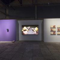 From left to right: Spectrum 1, by Monira Al Qadiri; Morte Súbita, by Jaime Lauriano; and DOPS, by Rafael Pagatini. Photo: Everton Ballardin. Image courtesy of 20º Festival de Arte Contemporânea Sesc_Videobrasil