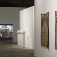 Pieces from the series Mezquitas de Puerto Rico, by Alia Farid, and Vodunaut, by Emo de Medeiros, and Asura, by Köken Ergun. Photo: Everton Ballardin. Image courtesy of 20º Festival de Arte Contemporânea Sesc_Videobrasil