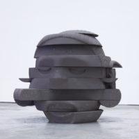 Troika, Compression Loss (Xipe), 2017, Jesmonite, 70 x 80 x 80cm, Compression Loss, Installation View, Galería OMR, 2017