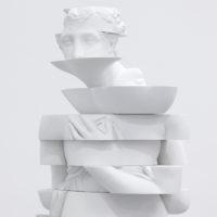 Troika, Compression Loss (Venus), 2017, Jesmonite, 165 x 50 x 50 cm, Compression Loss, Installation View, Galería OMR, 2017