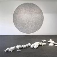 Troika, Compression Loss (Venus Fallen), 2017, Jesmonite, 30 x 100 x 350 cm, Compression Loss, Installation View, Galería OMR, 2017