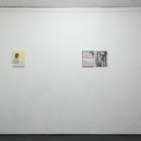 Louis Fratino, Ridley Howard, Sadie Laska. Installation view ofPractice in Leisure, Galería Mascota, Ciudad de México, 2017. Photo credit: Pj Rountree. Courtesy of Galería Mascota and the artists