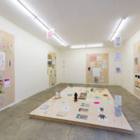 Elsa-Louise Manceaux and Diego Salvador Rios. Installation view of Selected Drawings, Ruberta, Los Angeles, 2018. Courtesy of Ruberta