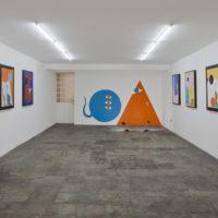 Ad Minoliti. Vista de la instalaciónPlayground 2.0 CDMX, en Galería Agustina Ferreyra, Ciudad de México, 2018. Cortesía de Galería Agustina Ferreyra