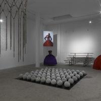 Esmaa Mohamoud. Installation view of THREE-PEAT at ltd los angeles, Los Angeles, California, USA, 2018. Courtesy of ltd los angeles