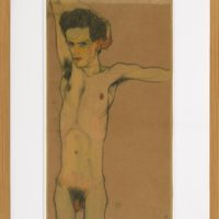 Egon Schiele, Self-portrait naked, c. 1910. MAC USP Collection (Comodato com a Associação Cultural de Amigos do Museu Lasar Segall / Proprietário: Robert Schwarz) Homenagem a Käthe e Johann Schwarz. Credit: Jorge Bastos