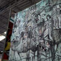 Vista de la exposición Callar la protesta / Borramientos del poder, La Fortaleza, Ciudad de México, 2018. Foto por Carlos Iván Hernández