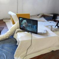 Liv Schulman. Vista de la exposición Los accidentes laborales, PIEDRAS galería, Buenos Aires, Argentina, 2018. Cortesía de PIEDRAS Galería