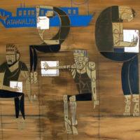 En el paraná , 2012. Acrílico sobre tela. 100 x 120 cm