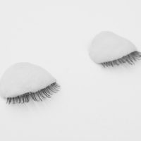 Alan Sierra, Palacio Interior, 2017, False eyelashes and cold porcelain, 1.1x1.6x0.4