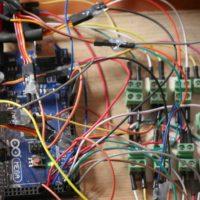 Coyote inalienable (detalle), 2013. Estructura metálica, cabello, circuitos electrónicos y sensores. Dimensiones variables. Imagen cortesía del artista y Museo de Arte Contemporáneo de Oaxaca