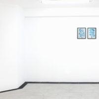 Andrés Pereira Paz. Vista de la exposición Rayo Purita o el futuro es aquello que llevamos en la espalda, Crisis Galería, Lima, Perú, 2018. Cortesía de Crisis Galería