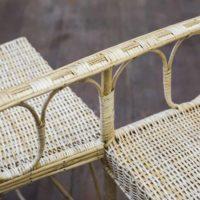 Rocío Guerrero, silla de enamorados, mimbre (detalle). Fotografía por Benjamín Matte. Cortesía del Museo del Polvo y LOCAL Arte Contemporáneo
