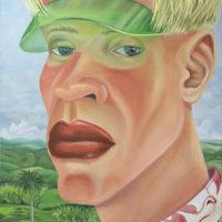 Dalton Gata, Nostalgia, 2017. Oil on jute. 60 x 40 inches. Image courtesy of Embajada