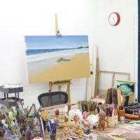 Dalton Gata, Playa de Lanza del Norte (Work in progress). Oil on canvas. Image courtesy of Embajada