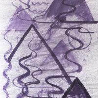 Alejandra Venegas, Pintura de montaña agua #5, 2017. Ink on rice paper. 138 x 69cm. Courtesy of Alejandra Venegas, Ruberta, and BWSMX. Photo: Jeff McLane.