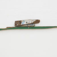 Objeto encontrado #3, 2018. Wood, nails (fragments of raft found in Icapuí/CE), 10 x 53,5 x 2,5 cm. Courtesy of Galeria Jaqueline Martins
