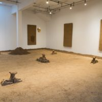 Rafa Esparza. Exhibition view of With Land, at Artpace, Texas, USA, 2018. Commissioned and produced by Artpace San Antonio. Photo credit by Charlie Kitchen